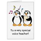 Voice Teacher Thank You Card