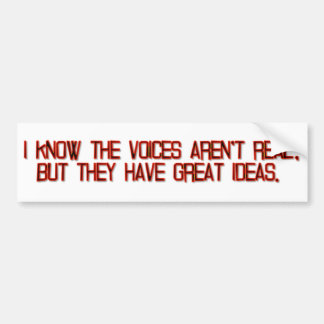 Voices and Ideas Bumper Sticker