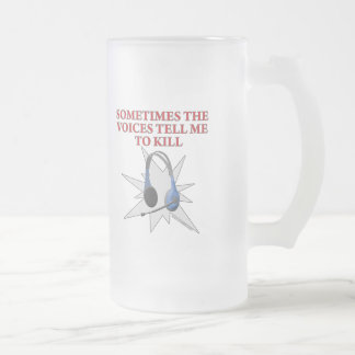 Voices Frosted Glass Mug