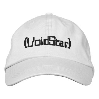 Void * embroidered baseball cap