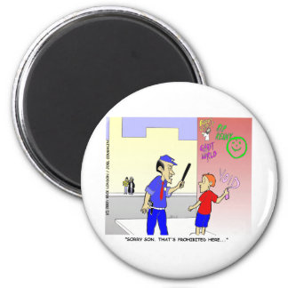 Void Graffiti Funny Police Cartoon Gifts & Tees 6 Cm Round Magnet