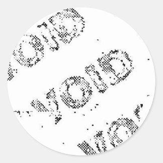 void_static round sticker