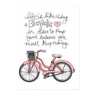 vol25 life is like riding a bicycle postcard