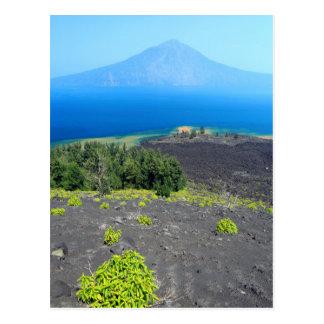 Volcanic slopes of Anak Krakatau, West Java Postcard
