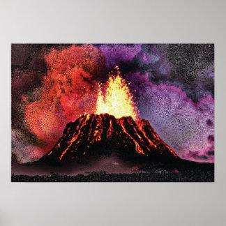 Volcano 9 special cmyk poster