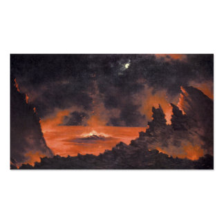 Volcano at Night, ca. 1880s Hawaii Double-Sided Standard Business Cards (Pack Of 100)
