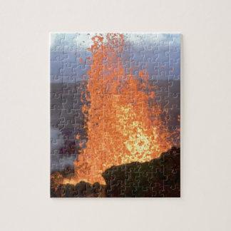 volcano blast of lava jigsaw puzzle