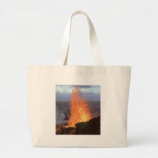 volcano blast of lava large tote bag
