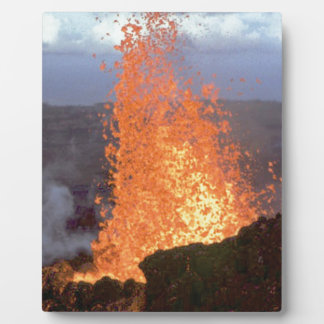 volcano blast of lava plaque