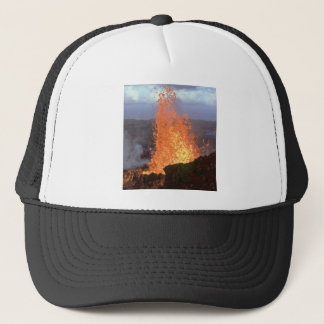 volcano blast of lava trucker hat