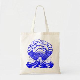 Volcano - Blue Budget Tote Bag