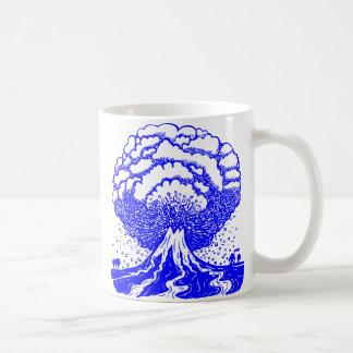Volcano - Blue Classic White Coffee Mug