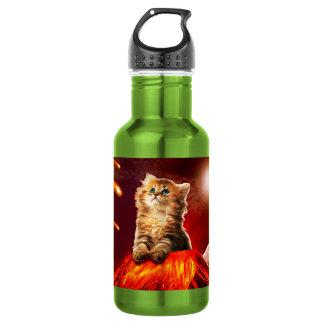 volcano cat ,vulcan cat , 532 ml water bottle
