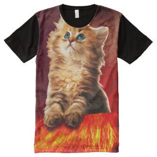 volcano cat ,vulcan cat , All-Over print T-Shirt
