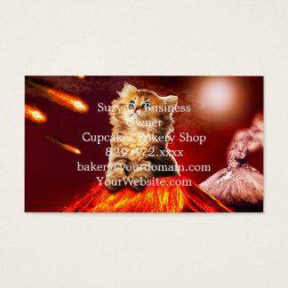 volcano cat ,vulcan cat , business card