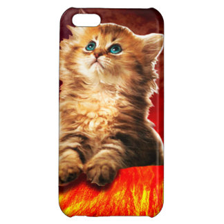 volcano cat ,vulcan cat , case for iPhone 5C