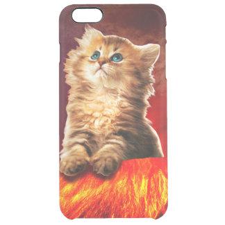 volcano cat ,vulcan cat , clear iPhone 6 plus case