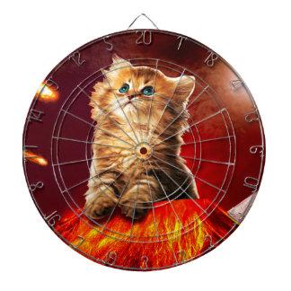 volcano cat ,vulcan cat , dartboard