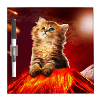 volcano cat ,vulcan cat , dry erase board
