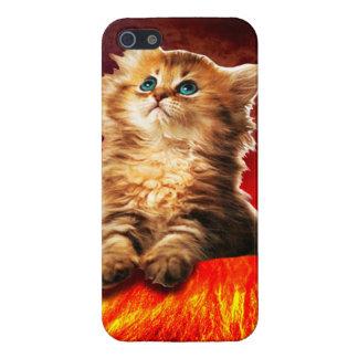volcano cat ,vulcan cat , iPhone 5/5S covers