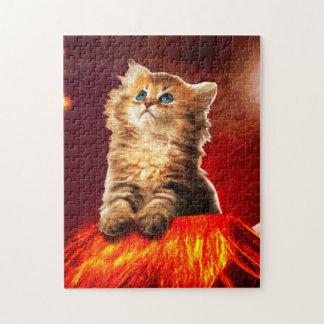 volcano cat ,vulcan cat , jigsaw puzzle