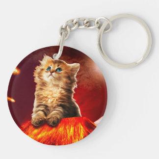 volcano cat ,vulcan cat , key ring