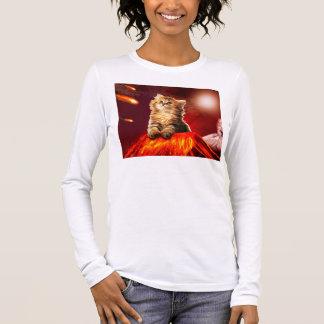 volcano cat ,vulcan cat , long sleeve T-Shirt