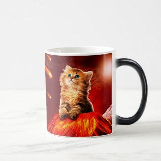 volcano cat ,vulcan cat , magic mug
