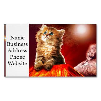volcano cat ,vulcan cat , Magnetic business card