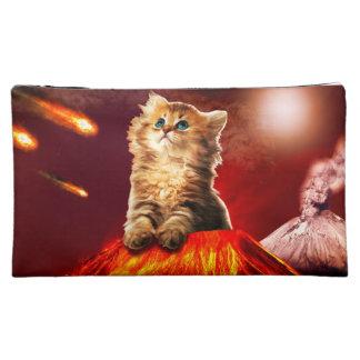 volcano cat ,vulcan cat , makeup bag