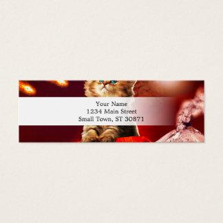 volcano cat ,vulcan cat , mini business card