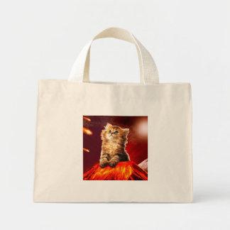 volcano cat ,vulcan cat , mini tote bag