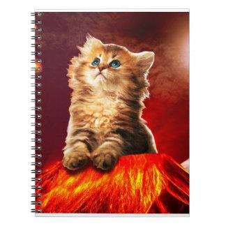 volcano cat ,vulcan cat , notebook