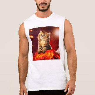 volcano cat ,vulcan cat , sleeveless shirt