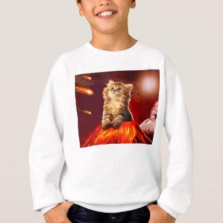 volcano cat ,vulcan cat , sweatshirt
