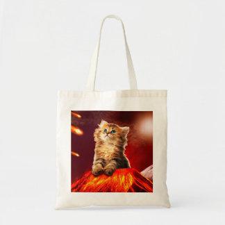 volcano cat ,vulcan cat , tote bag