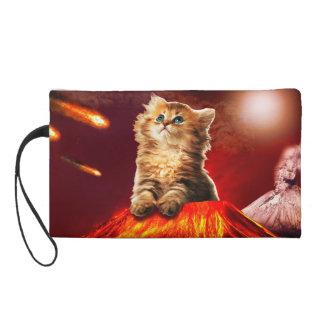 volcano cat ,vulcan cat , wristlet
