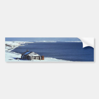 Volcano Club Log Building Bumper Sticker
