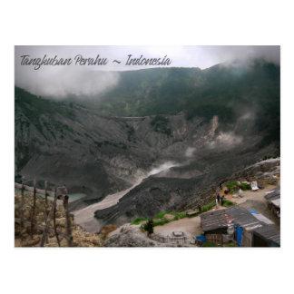 Volcano Crater Indonesia Postcard