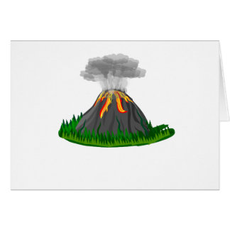 volcano eruption and fire card