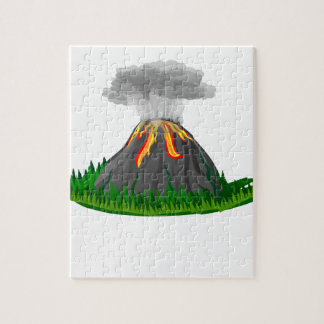 volcano eruption and fire jigsaw puzzle