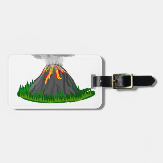 volcano eruption and fire luggage tag