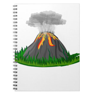 volcano eruption and fire notebooks