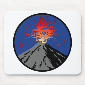 volcano eruption rock music notes