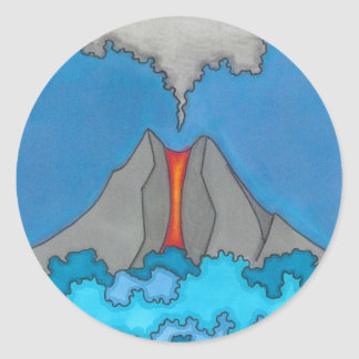 Volcano Expressionist Original Art Custom Sticker