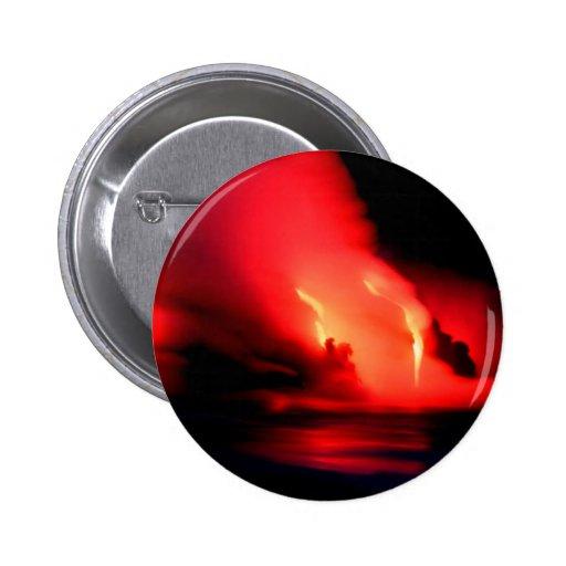 Volcano Fire And Ice Kona Hawaii Pins