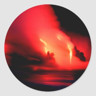 Volcano Fire And Ice Kona Hawaii Round Sticker