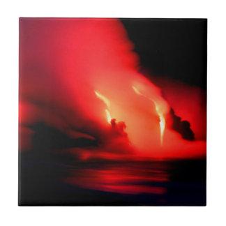 Volcano Fire And Ice Kona Hawaii Tiles