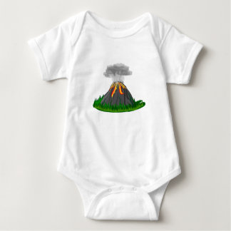 volcano fire eruption baby bodysuit
