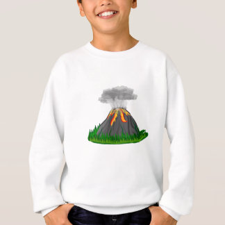 volcano fire eruption sweatshirt